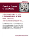 A Contrarian View of Two Key Issues in Court Records Privacy and Access