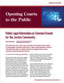 Public Legal Information as Common Ground for the Justice Community