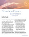 The Procedural-Fairness Movement Comes of Age